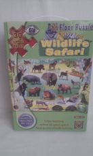 Adorable Giant 'Wildlife Safari' Photo Floor Puzzle Age: 2-5 years+ Boxed